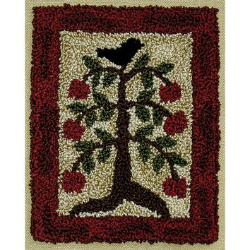 "Apple Tree Rachel's of Greenfield Punch Needle Kit 3""X4"""