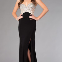 Dave and Johnny Floor Length Prom Dress