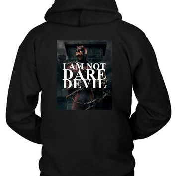 DCCKG72 Marvel Dare Devil I Am Not Dare Hoodie Two Sided
