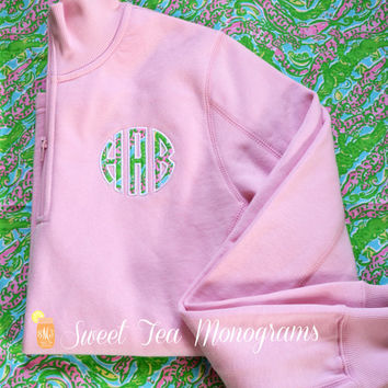 Women's Lilly Pulitzer Monogram Quarter Zip Pullover