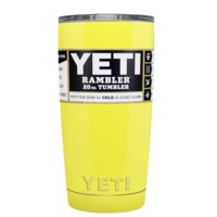 Custom YETI 20 oz Sunshine Yellow Design Your Own Tumbler