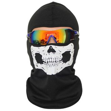 Skull Balaclava Breathable Riding Cycling Face Mask Dust-proof Hiking Ski Outdoor Sports Head Cover CS Protect Full Face Masks