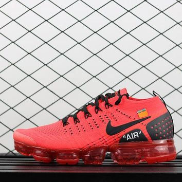 AUGUU Nike Air Vapor Max Flyknit 2018 942842-006 Running Shoes Red