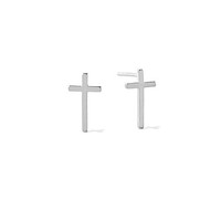 Alex and Ani Cross Stud Earrings Sterling Silver