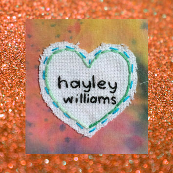 Hayley Williams Patch, Paramore Patch, Heart Patch