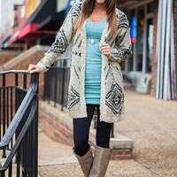 The Cheyenne Cardigan, Taupe