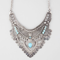 Full Tilt Boho Princess Statement Necklace Antique Silver One Size For Women 26621458201