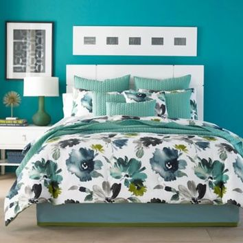 J by J. Queen New York Midori Comforter Set in Teal