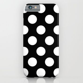 Classic White Polka Dot Pattern iPhone & iPod Case by New Wave Studio