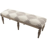 Diamond Aztec Grey Upholstered Bench