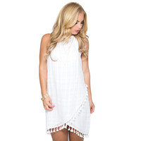 Sail Away Tassel Dress In Ivory