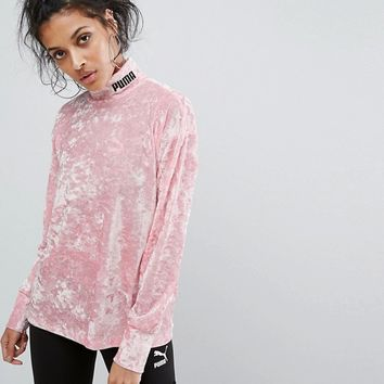 Puma Exclusive To ASOS Velvet Sweatshirt at asos.com