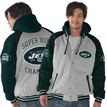 New York Jets Rookie of the Year Super Bowl Champions Commemorative Jacket - Ash/Green