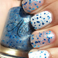 Snow Globe - Unique Hand Mixed Nail Polish / Lacquer in a Full Sized Bottle - Gifts Under 10