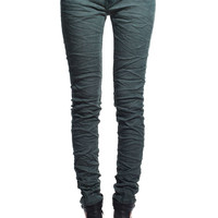 Jeans in acid wash green