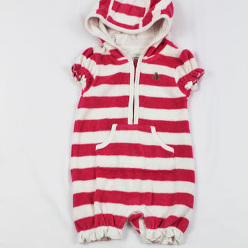 Gap Terry Cloth Striped Romper , size 3-6 mo