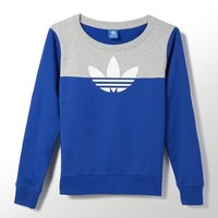 adidas Elbow Patch Trefoil Crew Sweatshirt | adidas US