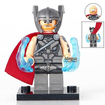 Single Sale XH703 Thor Ragnarok 76088 Marvel Super Heroes Building Blocks Bricks Toys Children Gifts X0172 Dropshipping