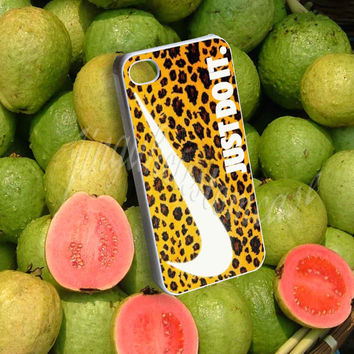 Nike Just Do It Leopard Pattern - Photo Print for iPhone 4/4s, iPhone 5/5C, Samsung S3 i9300, Samsung S4 i9500 Hard Case