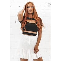 Up To No Good Black Cut Out Crop Top