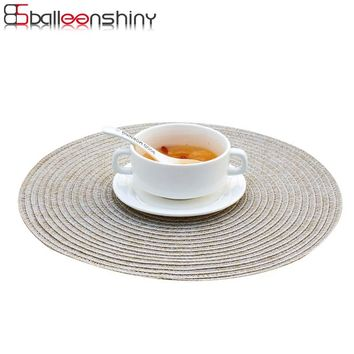 Household Dinning Table Decoration PVC Woven Vinyl Heat-insulated Placemat Bowl Mats Pad Waterproof Anti-skidding Kitchen Tools