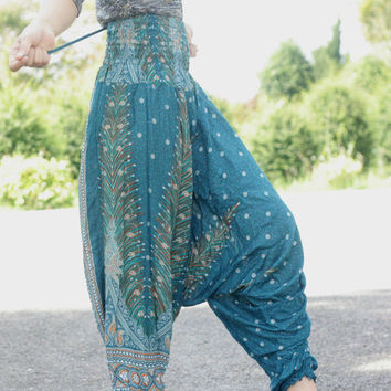 Long dress Thai fisherman pants palazzo pants harem pants/elephant pants/Aladdin Pants/hippie clothes/bohemian style/baggy pants