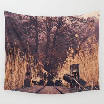 Reach for the sky Wall Tapestry by HappyMelvin
