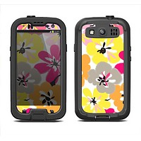 The Bright Summer Brushed Flowers  Samsung Galaxy S3 LifeProof Fre Case Skin Set