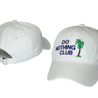 DO NOTHING CLUB Embroidered Baseball Cap Hat