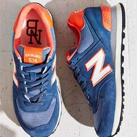 New Balance 574 Pennant Collection Running Sneaker - Navy