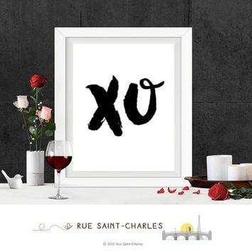 printable Art XO print Beyonce XO song printable xo hugs kisses xo wall art printable typographic art XO wall print downloadable art xoxo
