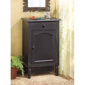 Display Cabinet Wood, Modern Craft Drawer Bathroom Storage Cabinet Black