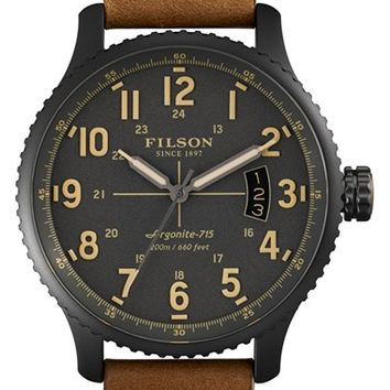 Men's Filson 'The Mackinaw Field' Watch, 43mm
