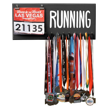RUNNING Marathon Medal Display, Holder, Hanger