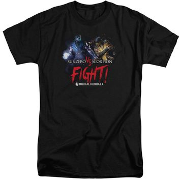 Mortal Kombat X - Fight Short Sleeve Adult Tall