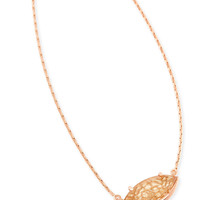 Kendra Scott Meghan Pendant Necklace In Gold Dusted Glass