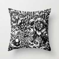 An underwater dream, Japanese koi art Throw Pillow by Kristy Patterson Design