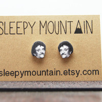 Kurt Vonnegut Earrings - Literary Stud Earrings