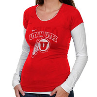 Nike Utah Utes Ladies Sunny Day Cross Campus Long Sleeve T-Shirt - Red