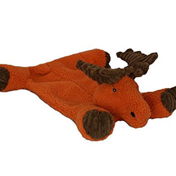 Durable Tuffut Flatties Squeaky Dog Toy, Moose, Small