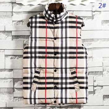 Burberry New fashion stripe couple leisure vest coat 2#