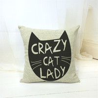 MYJ Fashion European crazy cat Decorative Cushions New Arrival Cartoon Style Throw Pillows Car Home Decor Cushion Decor