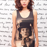 JOHNNY DEPP T Shirt Dead Man Rock Women Black T-Shirt Vest Tank Top Singlet Sleeveless Size S M