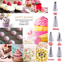 Home Kitchen Product Stainless Steel Cookie Tools Cake Decorating Cake Nozzles 24/6 Icing Cake Piping Nozzles Pastry Tips Decorating Set = 1843182596