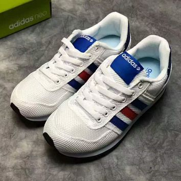 """ADIDAS"" NEO Trending Retro Fashion Casual Sports Shoes White Red Blue Line G-PSXY"