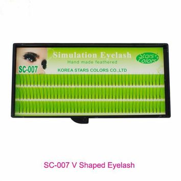 0.12mm C Curl Faux Mink False Eyelashes V Shape Lashes 2 in 1 Thinness Natural Long Individual Eyelash Extension