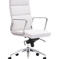 Zuo Engineer High Back Office Chair - White