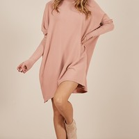 Never Been Better knit top in blush Produced By SHOWPO