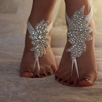 rhinestone,sandals,wedding shoes,bridal accesories,wedding foot jewelry,bridal anklet,wedding accessory