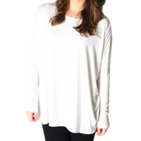 Off White Piko Long Sleeve Top